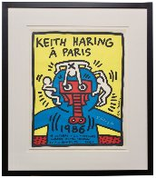 Paris Screenprint 1986 HS Limited Edition Print by Keith Haring - 2