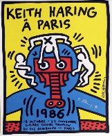Paris Screenprint 1986 HS Limited Edition Print by Keith Haring - 1