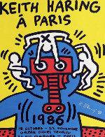 Paris Screenprint 1986 HS Limited Edition Print by Keith Haring - 0