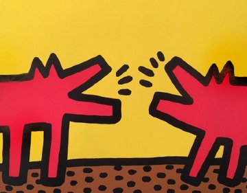 Pop Shop IV, Plate B - Barking Dogs 1989 Limited Edition Print - Keith Haring