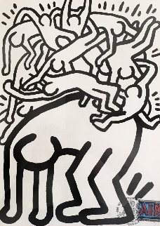 Fight Aids Worldwide 1990 Limited Edition Print - Keith Haring