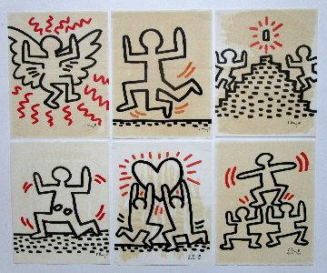 Bayer Suite of 6 Plate Signed 1982 (Complete) Limited Edition Print by Keith Haring