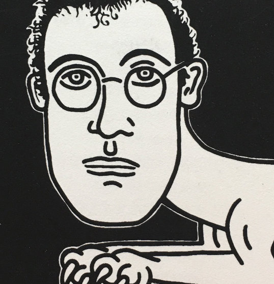 Self Portrait 1985 by Keith Haring