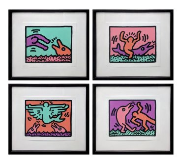 Pop Shop V Quad 1989 Limited Edition Print - Keith Haring