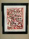 Cat 1984 38x32 Original Painting by Keith Haring - 1