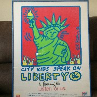 City Kids Speak on Liberty Poster 1986 HS Limited Edition Print by Keith Haring - 1