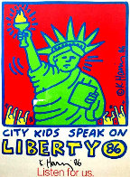 City Kids Speak on Liberty Poster 1986 HS Limited Edition Print by Keith Haring - 3