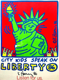 City Kids Speak on Liberty Poster 1986 HS Limited Edition Print by Keith Haring