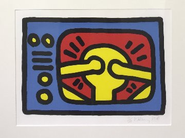 Untitled C 1987 Limited Edition Print by Keith Haring