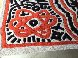 Running Man and Galaxy Art Tapestry 1985 39x59 HS Tapestry by Keith Haring - 5