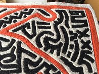 Running Man and Galaxy Art Tapestry 1985 39x59 HS Tapestry by Keith Haring - 9
