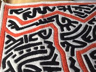 Running Man and Galaxy Art Tapestry 1985 39x59 HS Tapestry by Keith Haring - 10