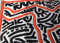 Running Man and Galaxy Art Tapestry 1985 39x59 HS Tapestry by Keith Haring - 6