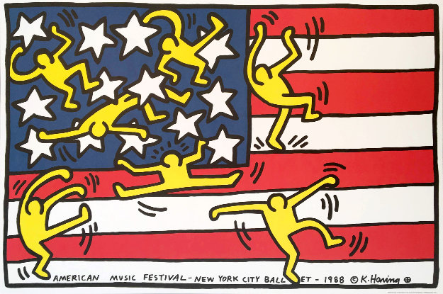 New York City Ballet Poster 1988 Limited Edition Print by Keith Haring