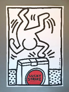 Lucky Strike I Poster 1987 Limited Edition Print by Keith Haring