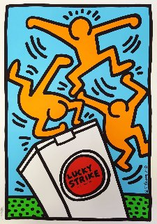 Lucky Strike III 1987 Limited Edition Print - Keith Haring