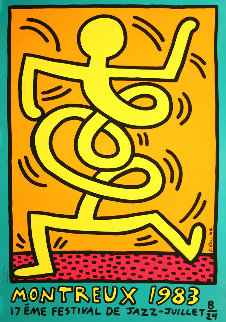 Montreux Jazz Festival III Poster 1983 Limited Edition Print by Keith Haring
