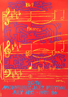 20th Montreux Jazz Festival Poster 1986 Limited Edition Print - Keith Haring
