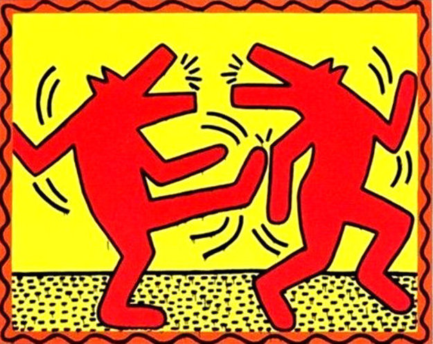 Untitled Poster (Dancing Dogs) Limited Edition Print by Keith Haring