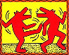 Untitled Poster (Dancing Dogs) Limited Edition Print by Keith Haring - 0