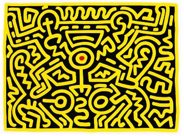Growing IV 1988 Limited Edition Print by Keith Haring