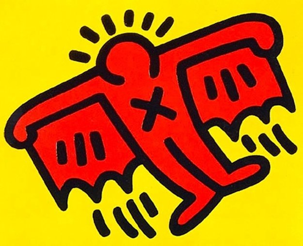 X-Man From Icons 1990 Limited Edition Print by Keith Haring