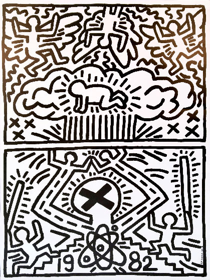 Nuclear Disarmament Poster 1982 Limited Edition Print by Keith Haring