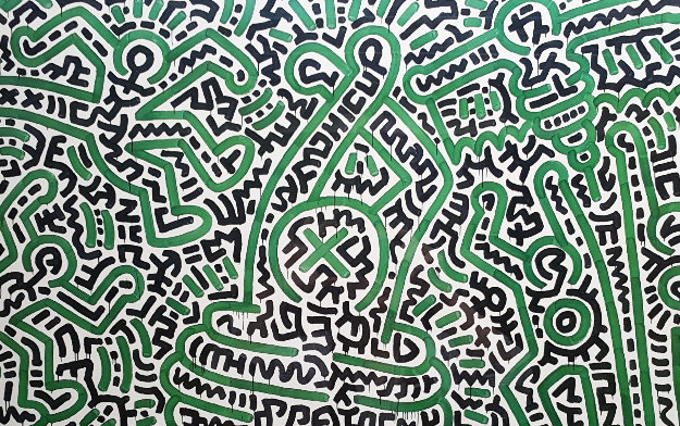 Homo Decorans Exhibition Poster 1985 HS by Keith Haring