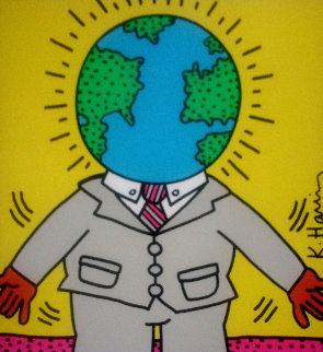 World Man Poster 1988 Limited Edition Print by Keith Haring