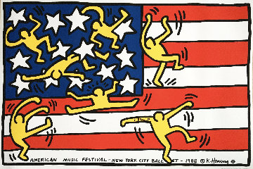 New York City Ballet 1988 (Hand Signed) Limited Edition Print by Keith Haring