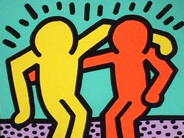 Best Buddies 1990 Limited Edition Print by Keith Haring