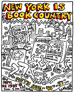 New York is Book Country HS Limited Edition Print by Keith Haring