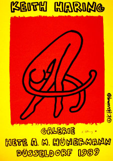Galerie Hete Hunermann 1989 HS Limited Edition Print - Keith Haring