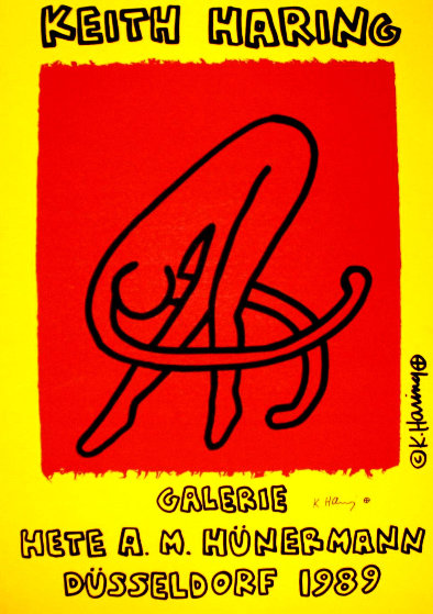 Galerie Hete Hunermann 1989 HS Limited Edition Print by Keith Haring