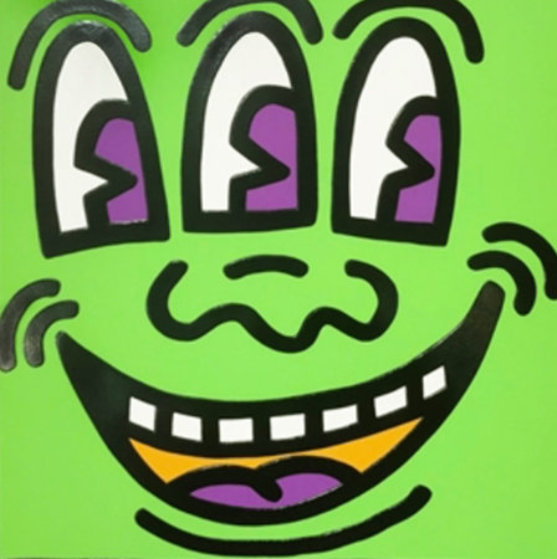 Three Eyed Face From Icons 1990 Limited Edition Print by Keith Haring