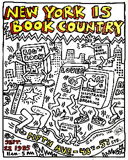 New York is Book Country Poster 1985 HS Limited Edition Print by Keith Haring