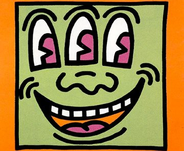 Three Eyed Monster 1990 Limited Edition Print - Keith Haring