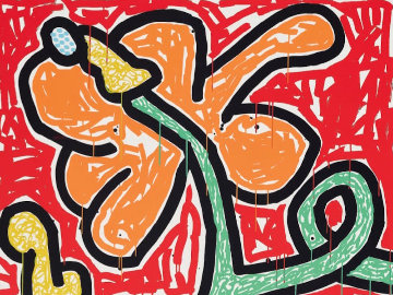 Flowers V 1990 Limited Edition Print by Keith Haring