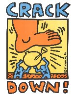 Crack Down Benefit Poster 1986 Limited Edition Print by Keith Haring - 1