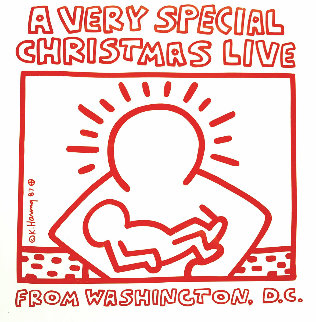 A Very Merry Christmas Live From Washington D. C. Poster 1999 Limited Edition Print by Keith Haring
