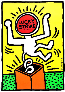 Lucky Strike II Poster HS 1987  Limited Edition Print - Keith Haring