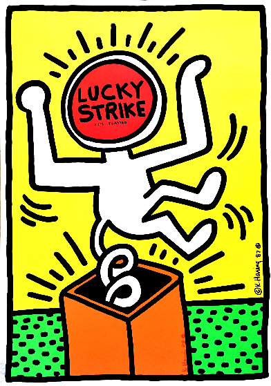 Lucky Strike II Poster HS 1987  Limited Edition Print by Keith Haring