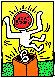 Lucky Strike II Poster HS 1987  Limited Edition Print by Keith Haring - 0