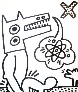 Untitled Set of 4 (From Lucio Amelio) 1983 Limited Edition Print - Keith Haring