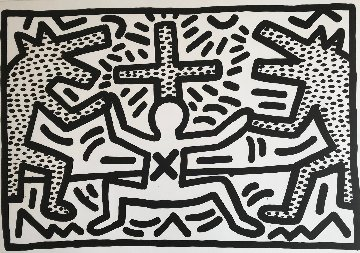 Untitled Lithograph 1982 Limited Edition Print - Keith Haring