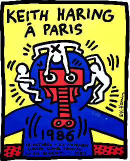 Á Paris Poster HS 1986 Limited Edition Print by Keith Haring