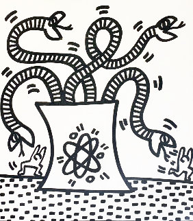 Untitled From Lucio Amelio 1983 Limited Edition Print - Keith Haring