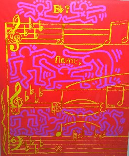 20th Montreux Jazz Festival Poster, HS By Haring and Warhol 1986 Limited Edition Print - Keith Haring