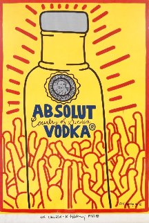 Absolut Vodka (Signed) Poster 1986 Rare Other - Keith Haring