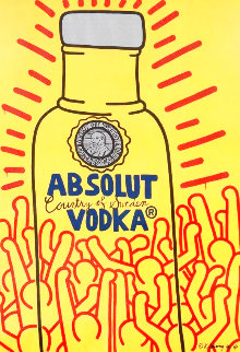 Absolut Vodka (Signed) Poster 1986 Other - Keith Haring
